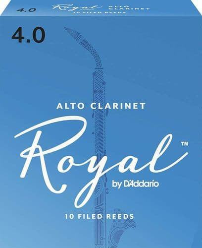 Rico Royal 4.0 Strength Reeds for Alto Clarinet (Pack of 10) - RDB1040